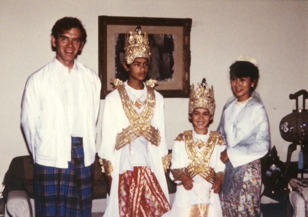 アウンサンスーチーとその家族